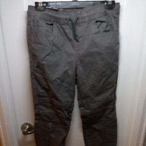 NWT East Pointe Men's Gray cotton slim moto jogger